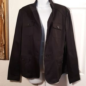 Jones New York Signature Womens Black Jacket